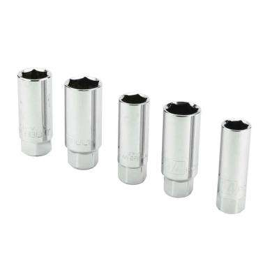 3/8 in. Driver Spark Plug Socket Set (5-Piece)