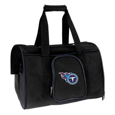 Denco NFL Tennessee Titans Pet Carrier Premium 16 in. Bag in Navy, Team Color