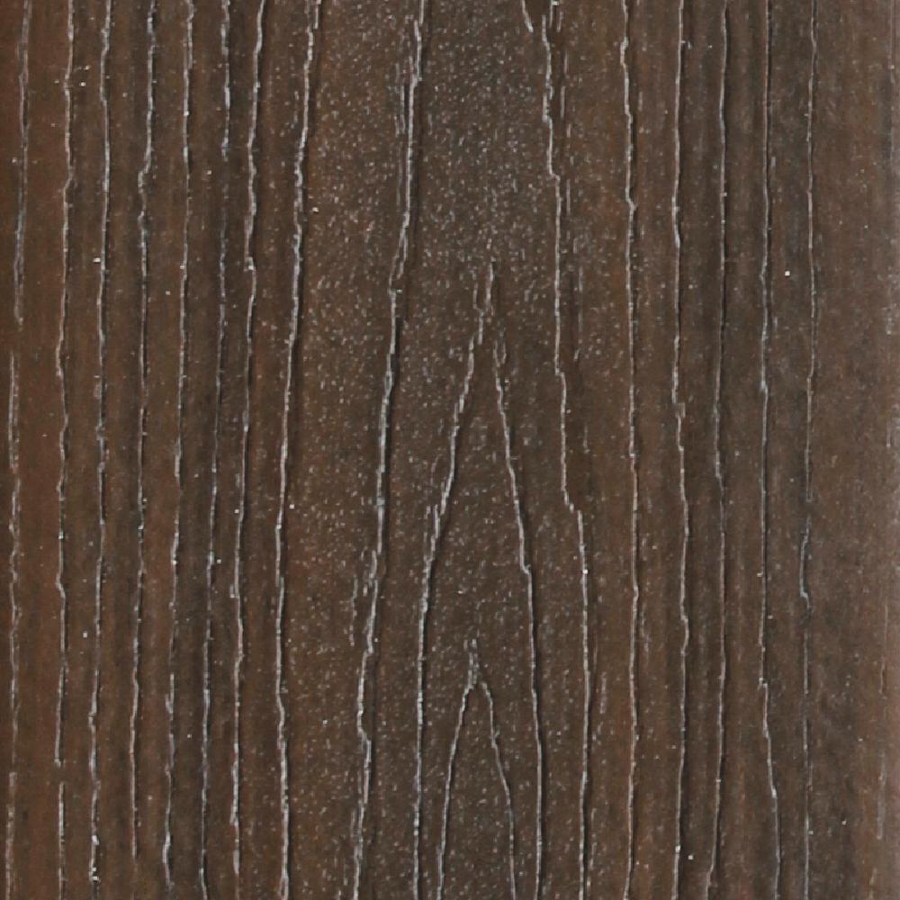 Refine 1 in. x 5-3/8 in. x 12 ft. Golden Teak Grooved Edge Composite Decking Board ( 10-Pack)