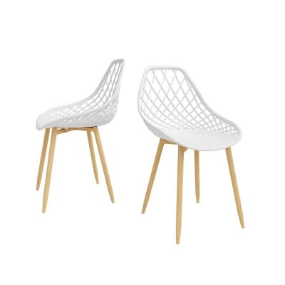 Kurv White/Natural Dining Chair (Set of 2)