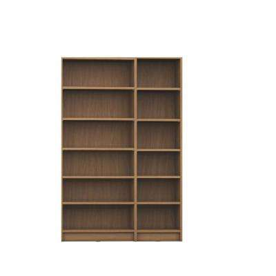 Greenwich 2-Piece Maple Cream Bookcase 12-Wide and Narrow Shelves