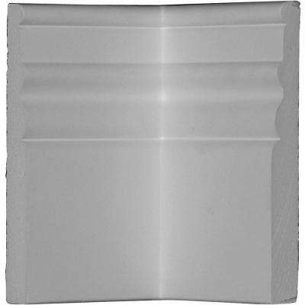 4 in. x 5-7/8 in. x 5-7/8 in. Polyurethane Federal Baseboard Inside Corner Moulding