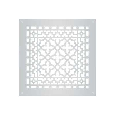 Scroll Series 10 in. x 10 in. Aluminum Grille, Gray with Mounting Holes