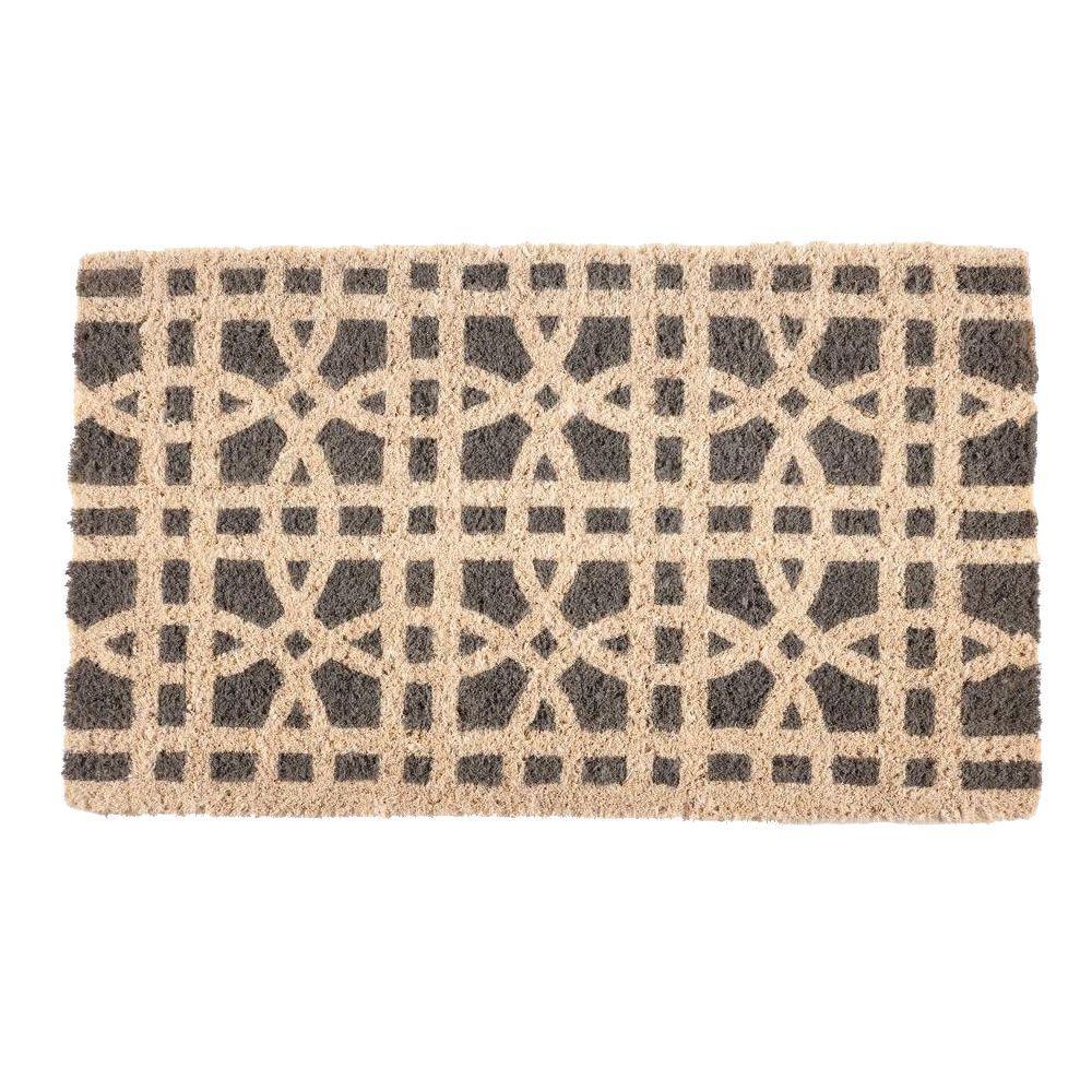 Ring Formations 18 in. x 30 in. Hand Woven Coconut Fiber Door Mat