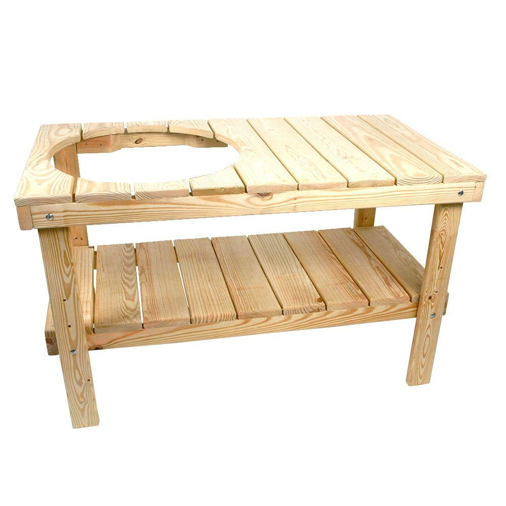 YellaWood Grill Table KitIRXAGT The Home Depot - Home depot wood picnic table kit
