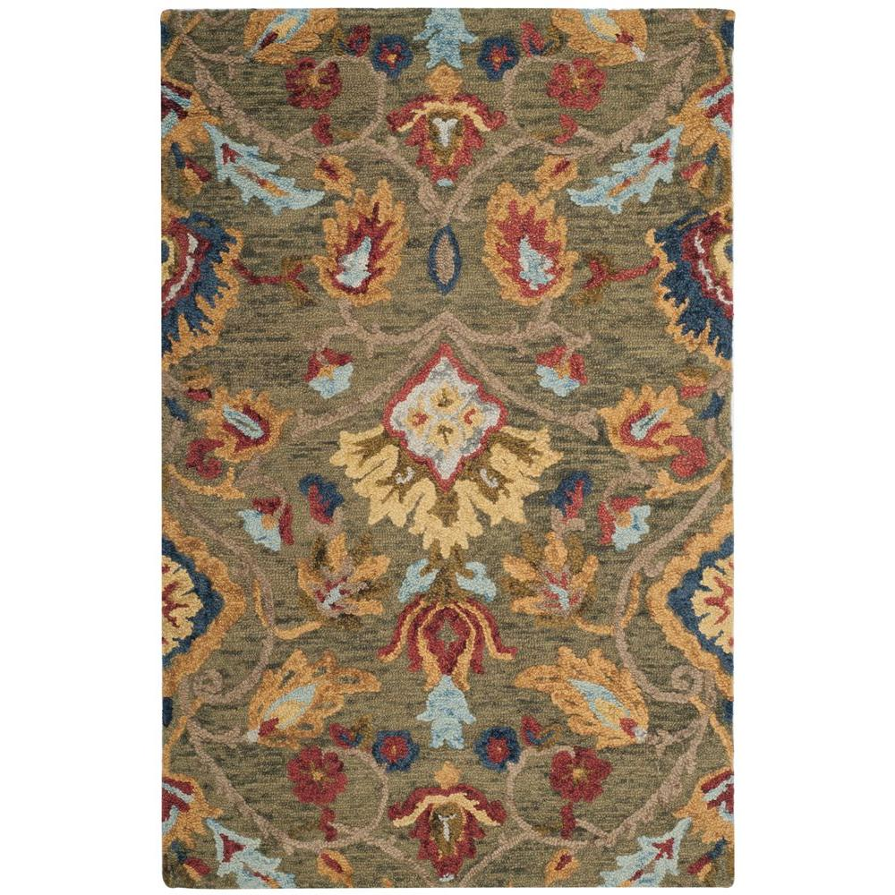 Blossom Green/Multi 4 ft. x 6 ft. Area Rug