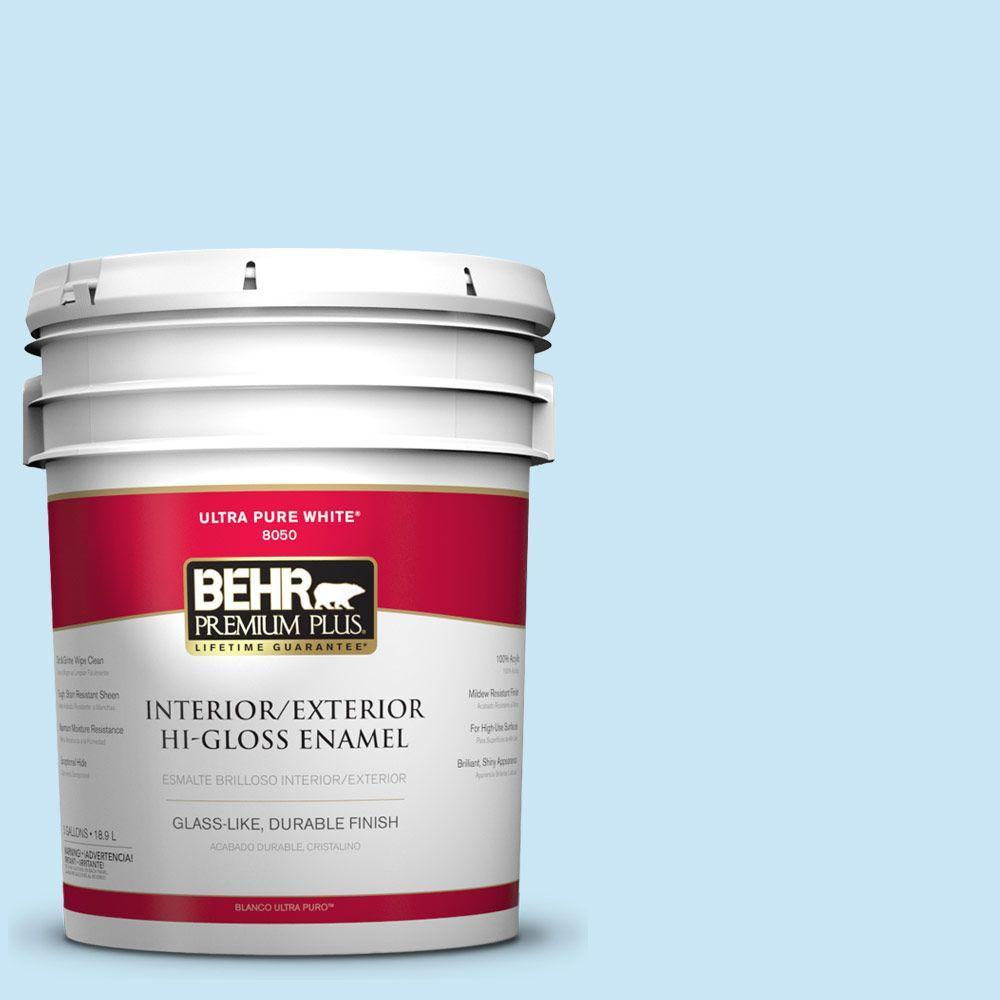 BEHR Premium Plus 5-gal. #550C-2 Sapphireberry Hi-Gloss Enamel Interior/Exterior Paint