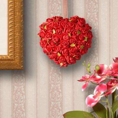 7 in. Red Rose Heart
