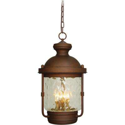 4-Light Burnished Bronze Outdoor Pendant