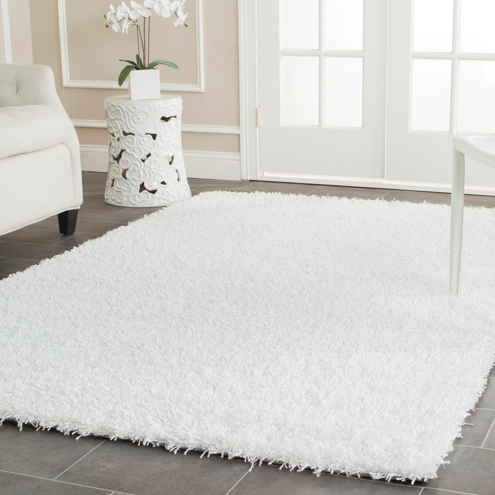 Safavieh Monterey Shag White 3 ft. x 5 ft. Area Rug