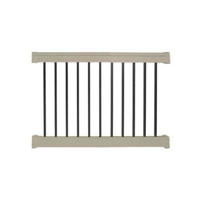 Vilano 3.5 ft. H x  4 ft. W Vinyl Khaki Railing Kit