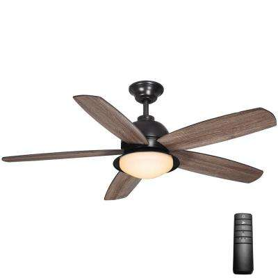 Ackerly 52 in. LED Indoor/Outdoor Natural Iron Ceiling Fan with Light Kit and Remote Control