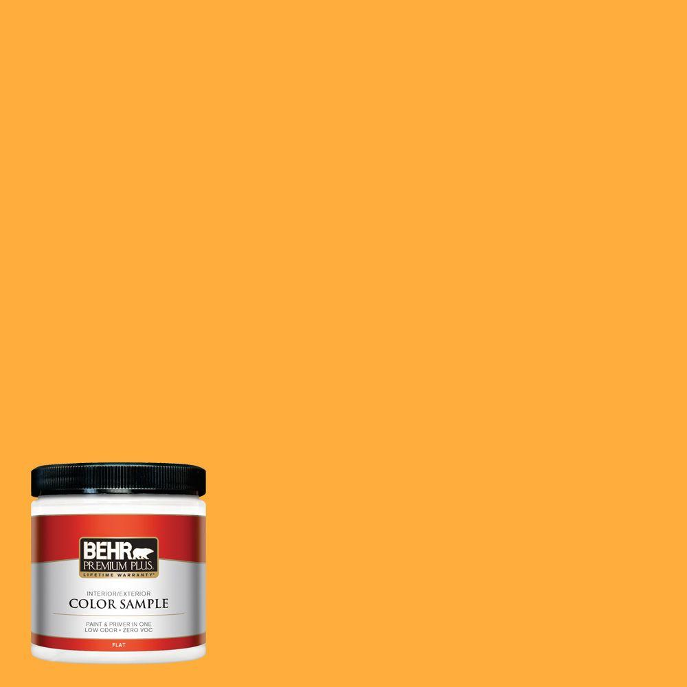 BEHR Premium Plus 8 oz  #S-G-310 Peach Butter Flat Interior/Exterior Paint  and Primer in One Sample