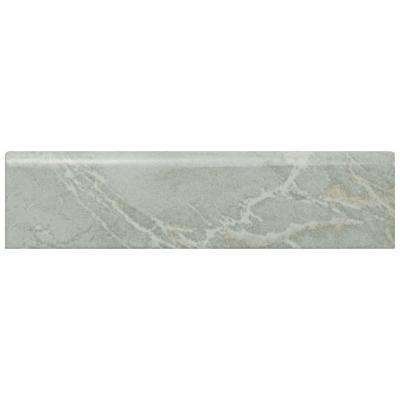 Aroas Gris 2 in. x 8 in. Ceramic Bullnose Wall Trim Tile