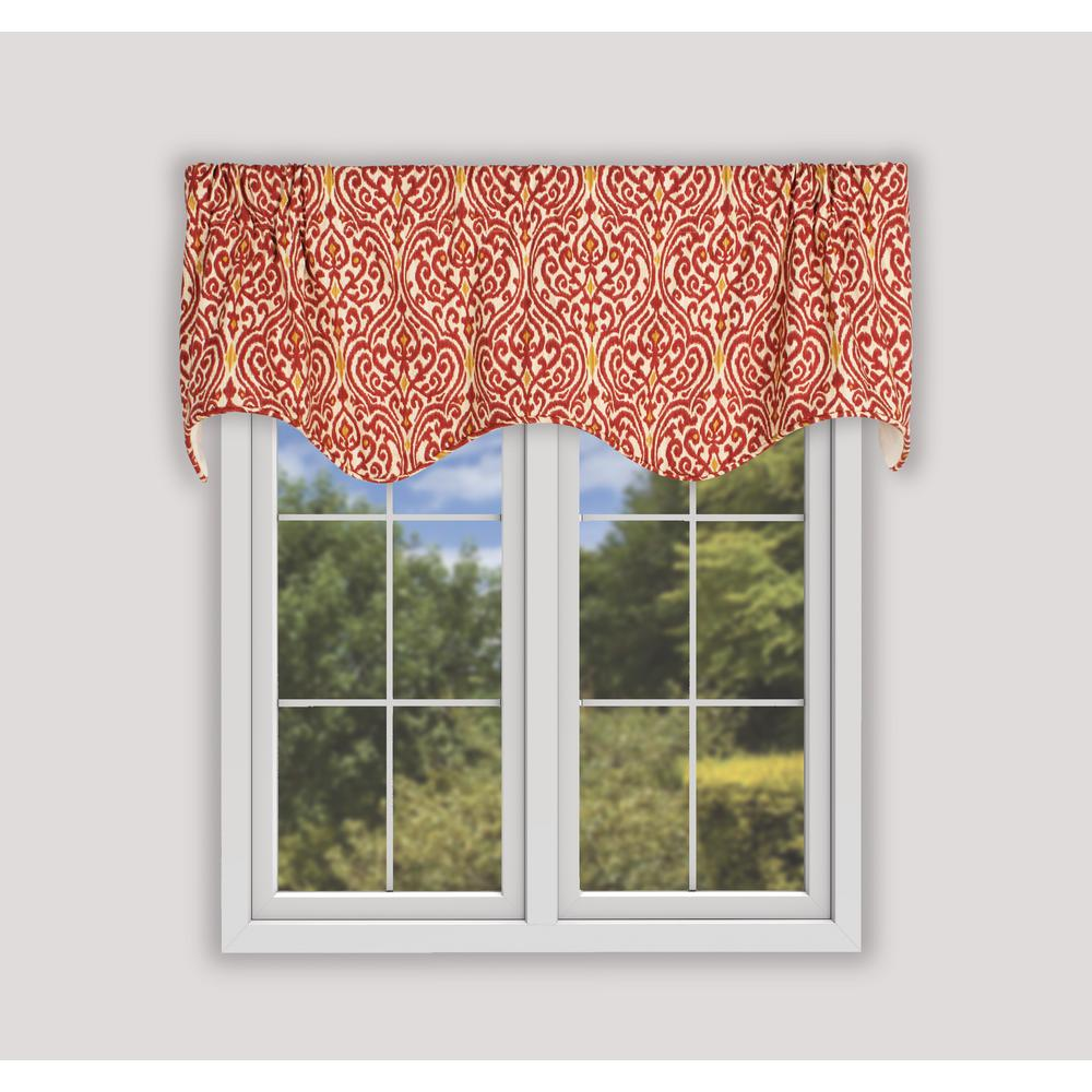 Ellis Curtain Sri Lanka 16 In L Cotton Lined Scallop Valance Red