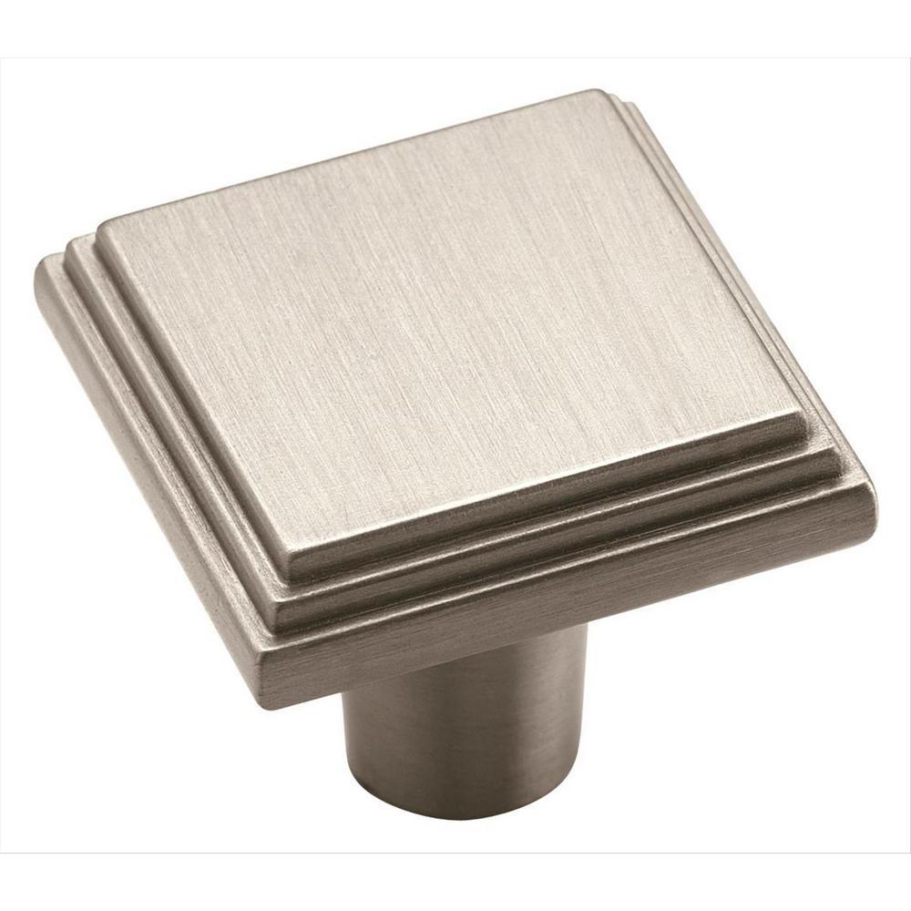 Manor 1-1/16 in (27 mm) Length Satin Nickel Cabinet Knob
