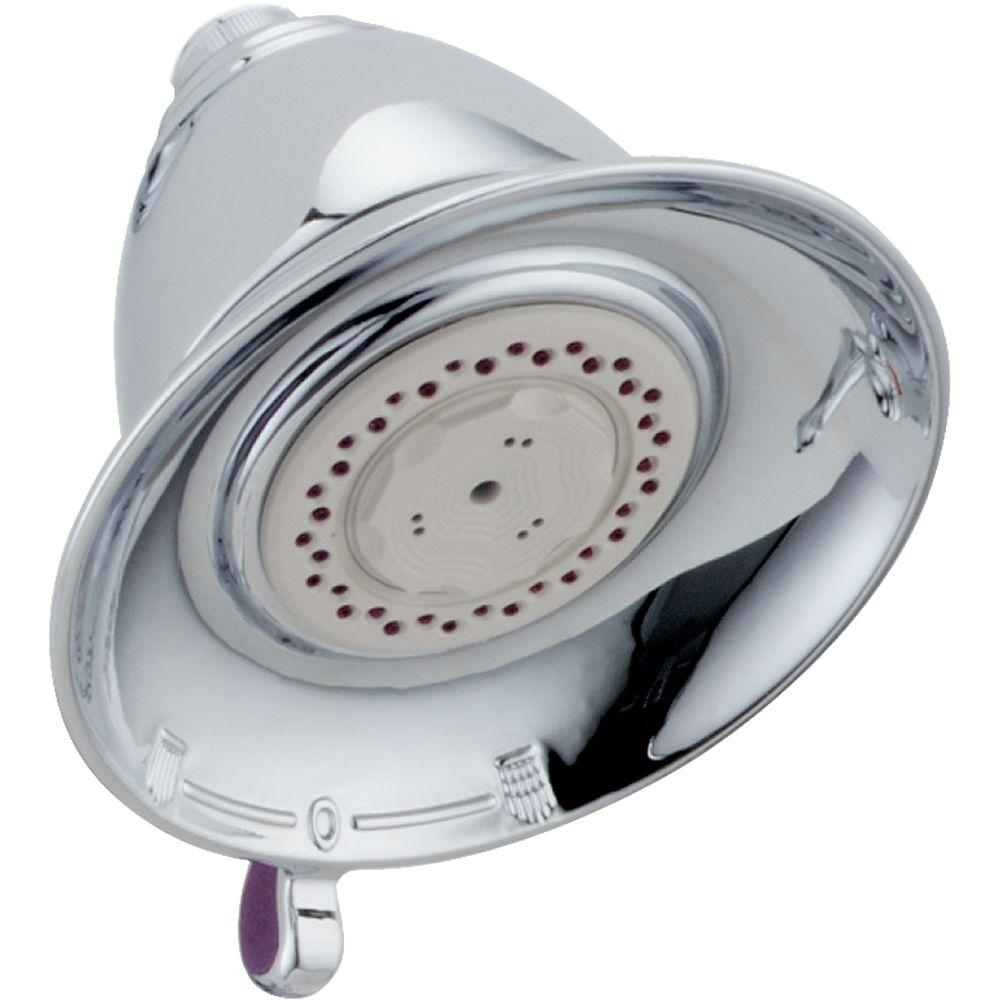 Delta Victorian 3-Spray 5-1/2 in. Touch-Clean Shower Head in Chrome