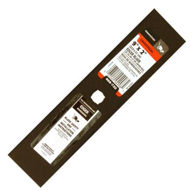 9 in. x 2 in. Universal Edger Blade with 7/16 in. Square, or 1/2 in Round Connection