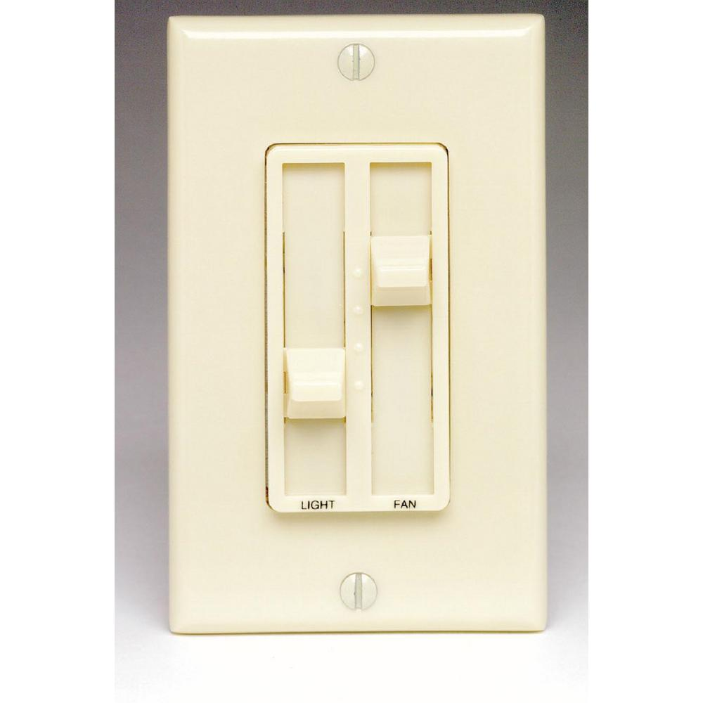 quiet bathroom light switch leviton sureslide 1 5 amp 300 watt single pole dual 20078