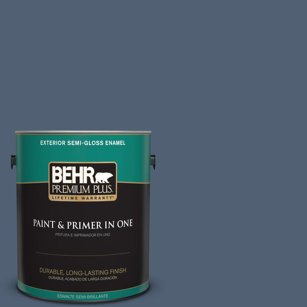 1 gal. #PPU14-19 English Channel Semi-Gloss Enamel Exterior Paint