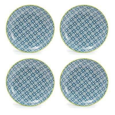 Thea Blue Salad Plates (Set of 4)