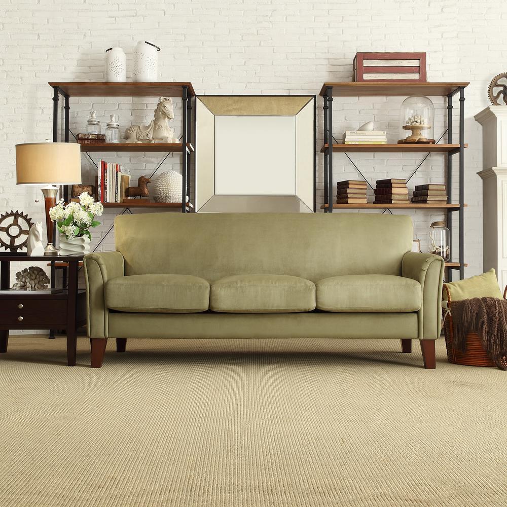 HomeSullivan Sage Microfiber Sofa