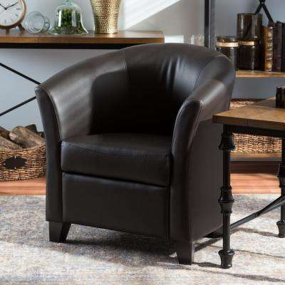 Anderson Dark Brown Faux Leather Upholstered Accent Chair