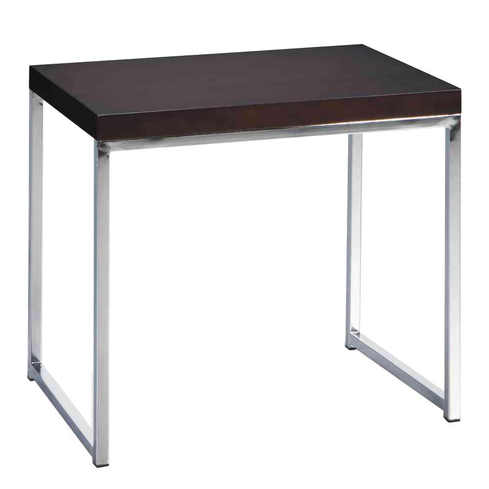 Ave Six Wall Street Espresso End Table