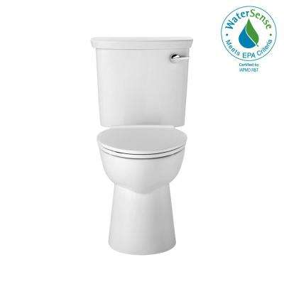 Vormax HET Tall Height 2-Piece 1.28 GPF Single Flush Elongated Toilet in White