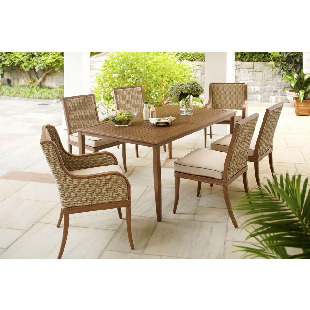 Hampton Bay Larmont 7-Piece Patio Dining Set