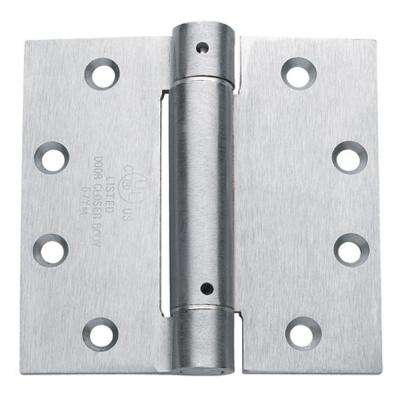 4.5 in. x 4.5 in. Brushed Chrome Steel Spring Hinge (Set of 3)