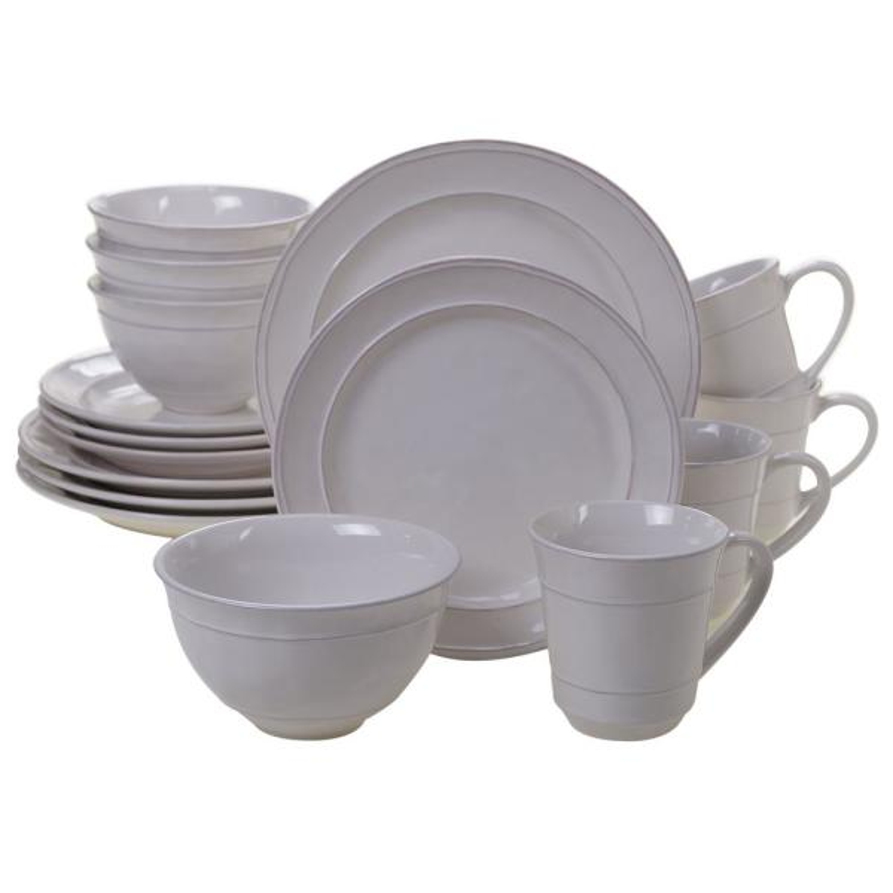Orbit 16-Piece Cream Dinnerware Set