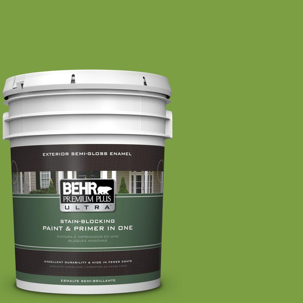 5-gal. #420B-7 Pepper Grass Semi-Gloss Enamel Exterior Paint