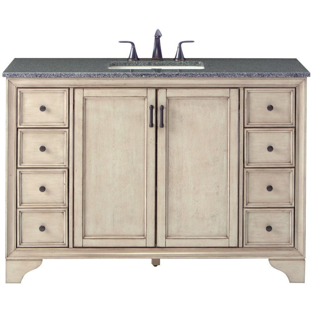 Home Decorators Collection Hazelton 49 in. W x 22 in. D Bath Vanity in - Home Decorators Collection Hazelton 49 In. W X 22 In. D Bath Vanity