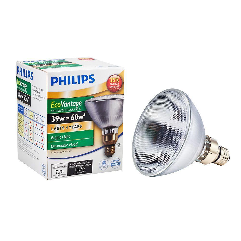 60-Watt Equivalent Halogen PAR38 Dimmable Floodlight Bulb