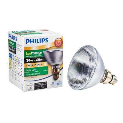 39-Watt Equivalent Halogen PAR38 Dimmable Floodlight Bulb