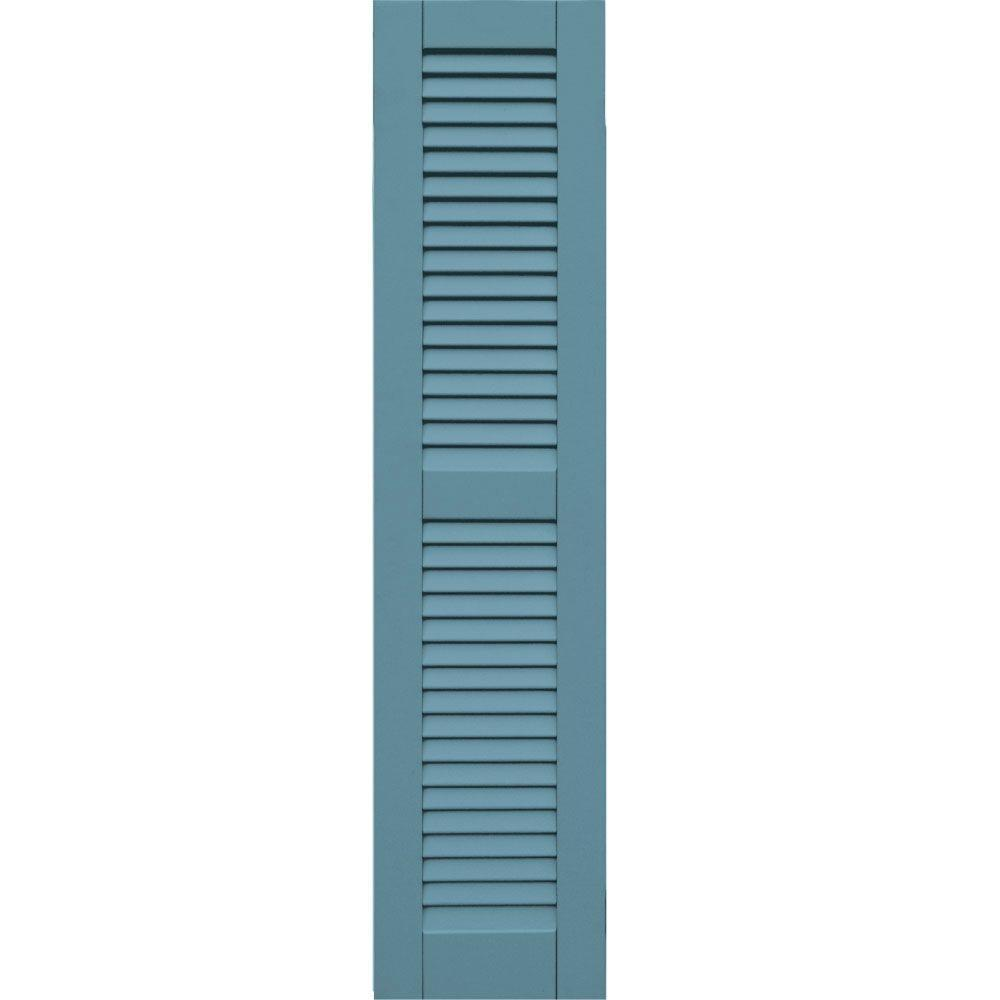 Winworks Wood Composite 12 in. x 52 in. Louvered Shutters Pair #645 Harbor