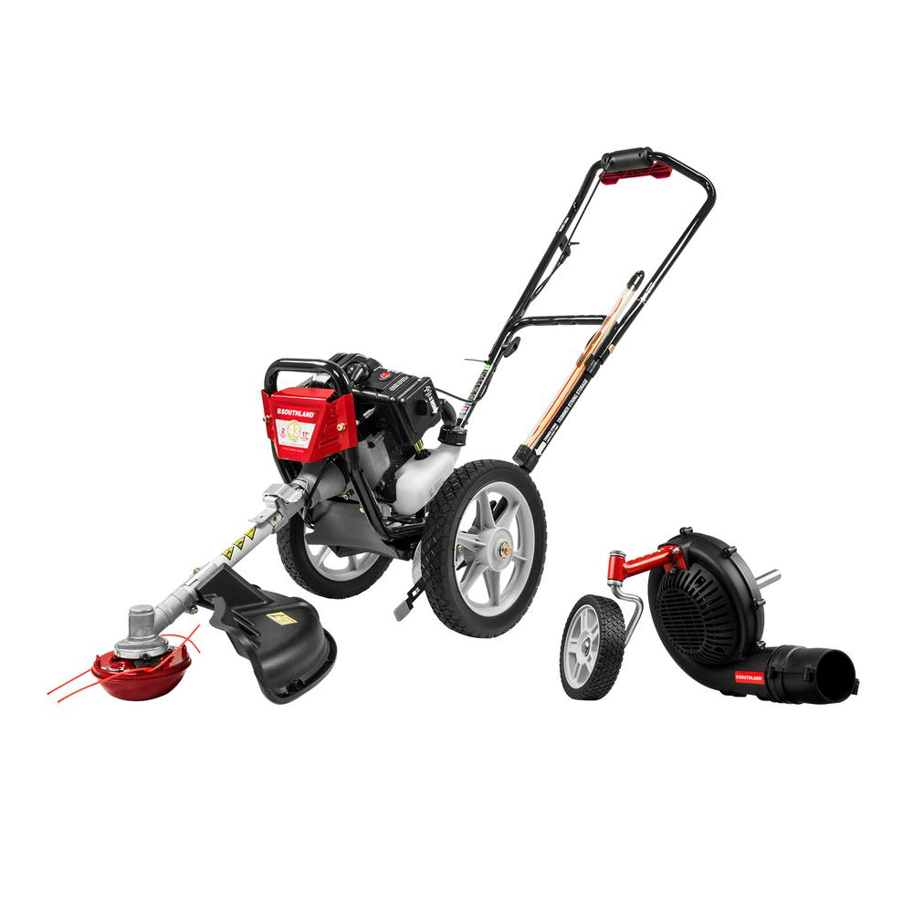 Southland 43 cc Wheeled String Trimmer Plus Blower Attachment Combo Kit