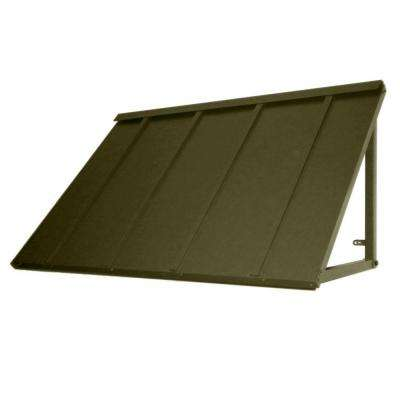 3.6 ft. Houstonian Metal Standing Seam Awning (44 in. W x 24 in. H x 36 in. D) in Olive