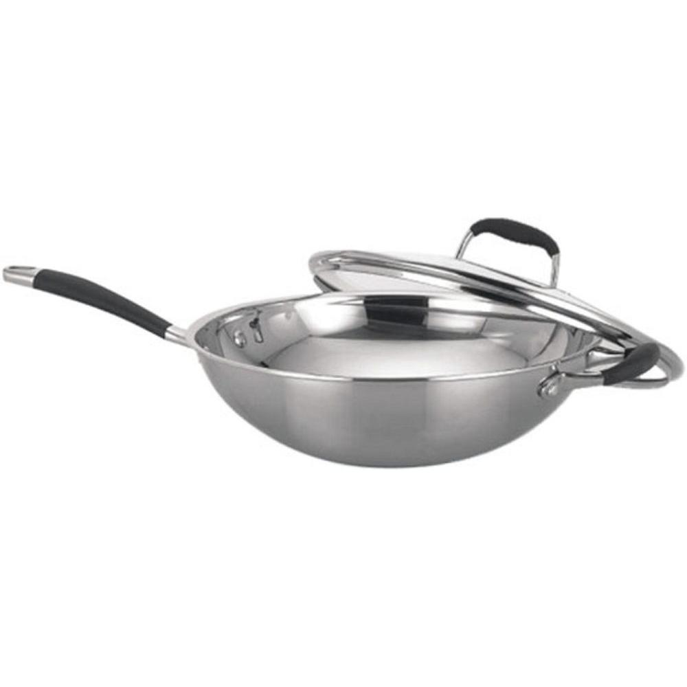 SPT Stainless Steel Wok with Lid