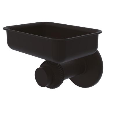 Mercury Collection Wall Mounted Soap Dish with Twisted Accents in Oil Rubbed Bronze
