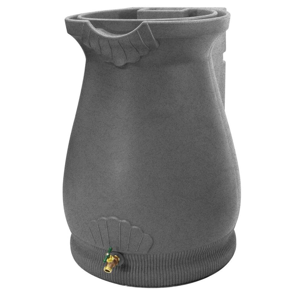Rain Wizard 65 Gal. Light Granite Urn Rain Barrel