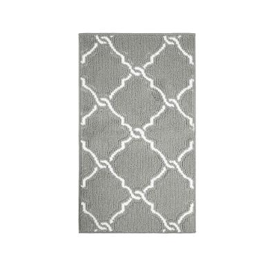 Yohan Grey/Soft White 2 ft. x 3 ft. Loop Area Rug