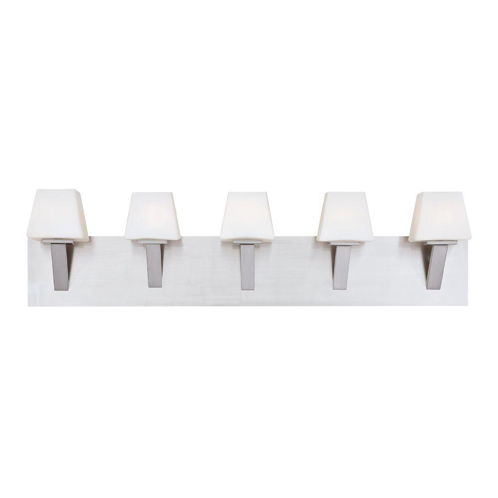 Anglo Collection 5-Light Satin Nickel Bath Bar Light