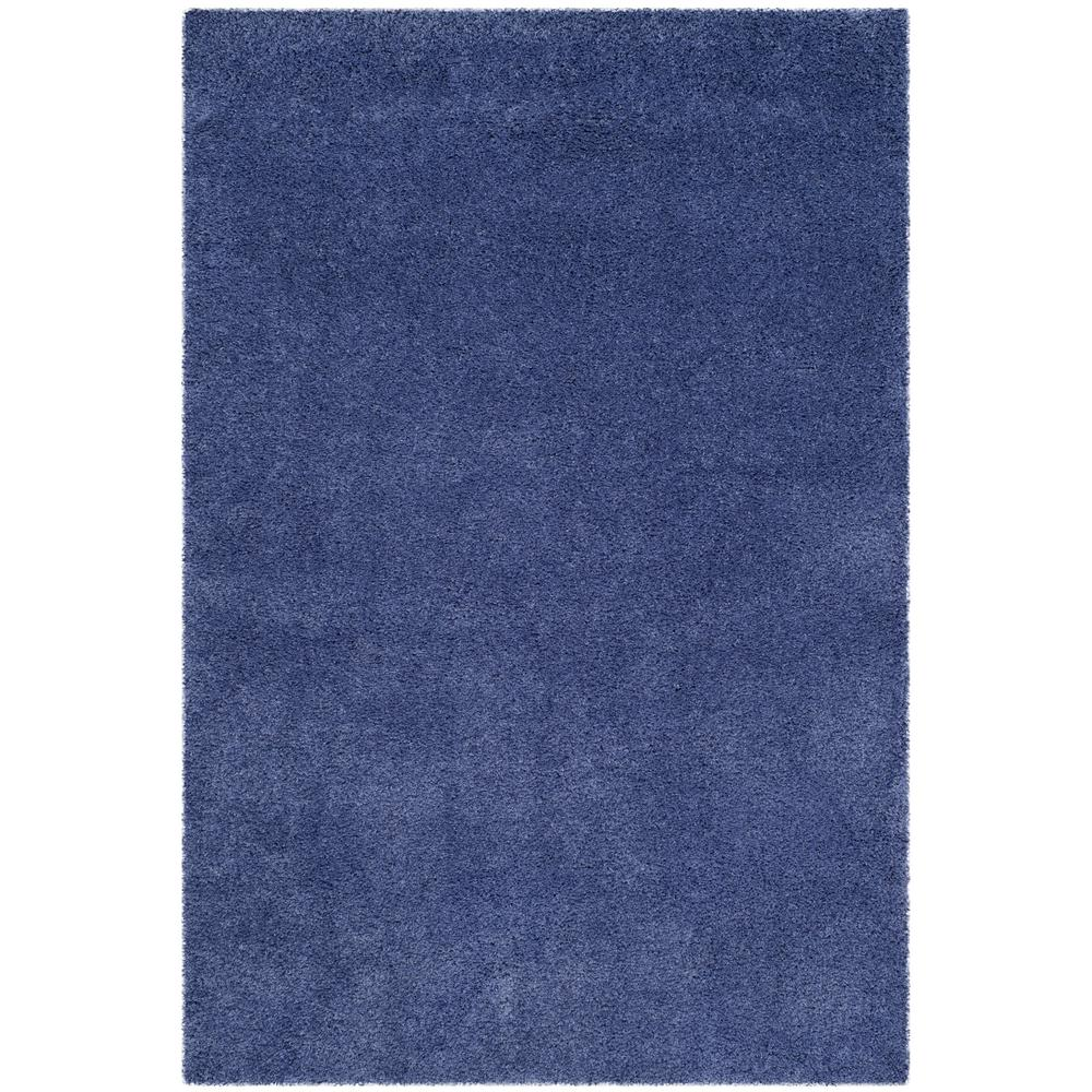 California Shag Periwinkle 8 ft. x 10 ft. Area Rug