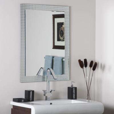 23.6 in. x 31.5 in. Rectangle Frameless Disco Wall Mirror with Beveled Edge