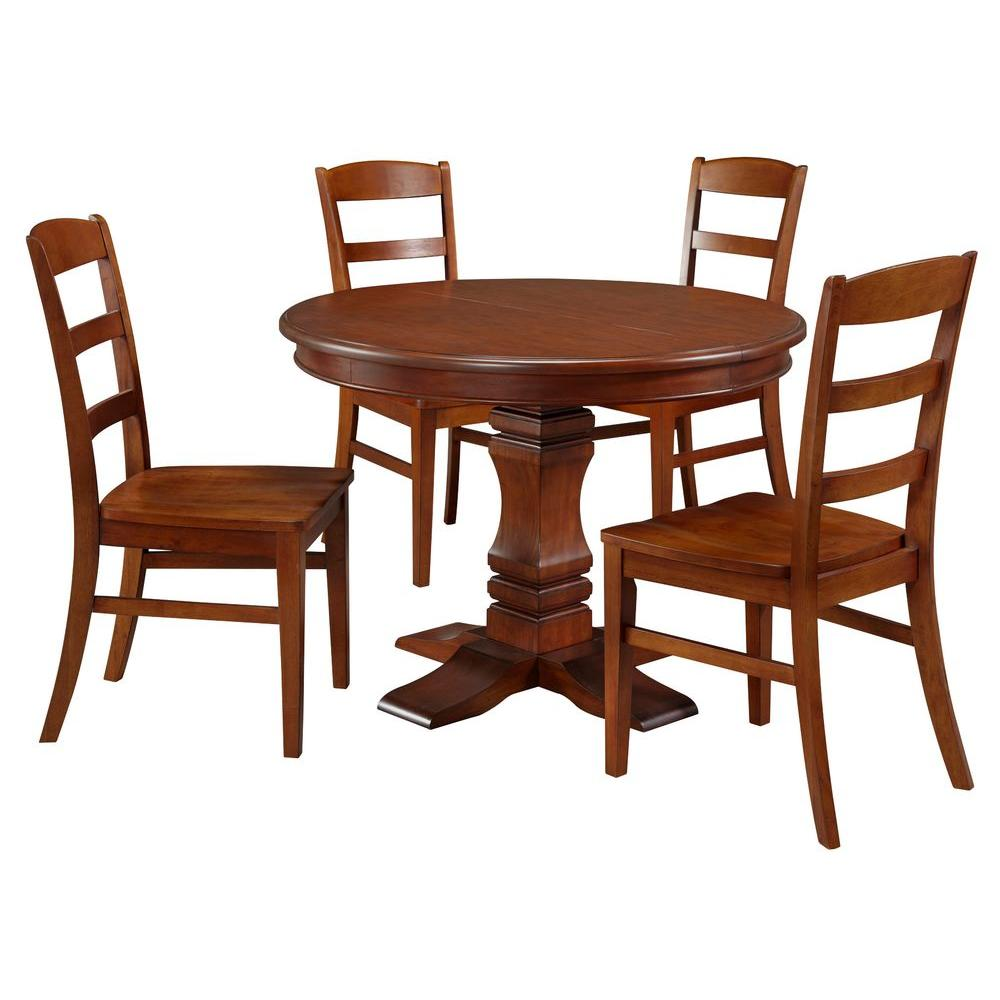 Home Styles The Aspen Collection Pedestal 5-Piece Dining Table Set