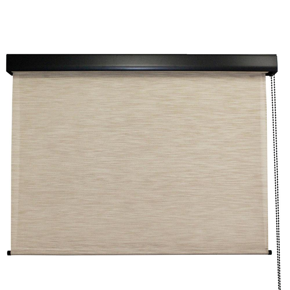 Seasun Surfside Premium Pvc Fabric Exterior Roller Shade Cord Operated With Protective Valance