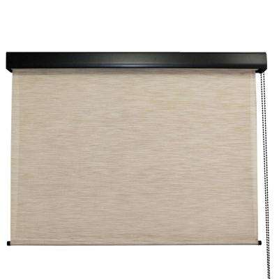 Surfside Premium PVC Fabric Exterior Roller Shade Cord Operated with Protective Valance - 96 in. W x 96 in. L