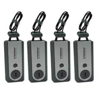 Portable Door Alarm with Flashlight (4-Pack)
